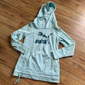Puma light blue logo hoodie